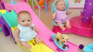 Baby doll play park slide toys Baby Doli amusement park play