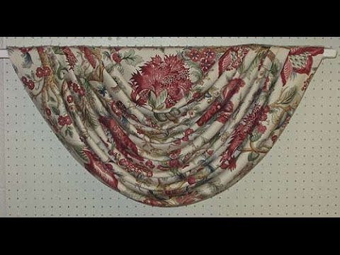 how to make swags and tails curtains(very easy and Beautiful swag)