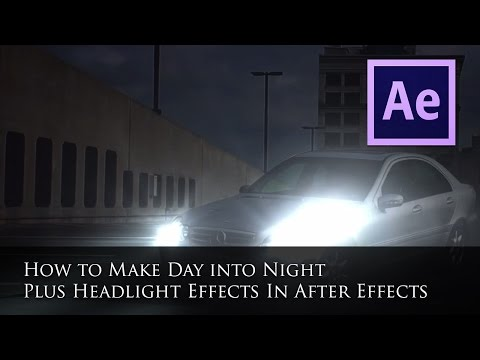 How to make day into Night and Replicate Headlights on a Car in After Effects CS5