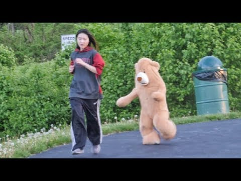 Leland Conway - Can't Stop Laughing At This Human Teddy Bear Scaring The Crap Out Of People