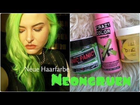 Neue Haarfarbe Ich Tone Mir Die Haare Neongrun Youtube