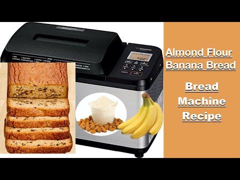 banana almond bread in a bread machine  clean