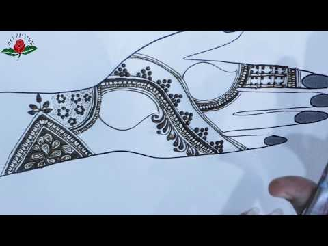 practice 7: Practice and learn stylish intricate  mehendi design :hindi
