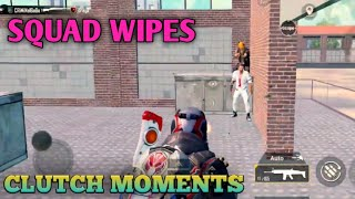 The best SQUAD Wipes | Clutch Moments | PUBG MOBILE |
