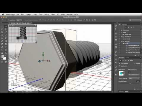 How to Reshape 3D Models in Photoshop CS6 Extended