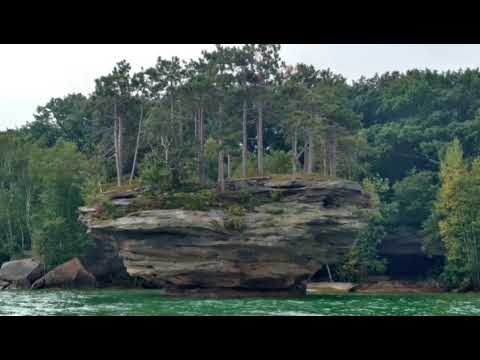 Kayaking at Turnip Rock Port Austin Michigan