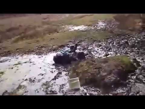 Prettyblond girl falls with head first into the mud yapfiles