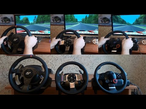 Trustmaster T500, Logitech G27 And DFGT Sound Test Feedback. Assetto Corsa  Driving