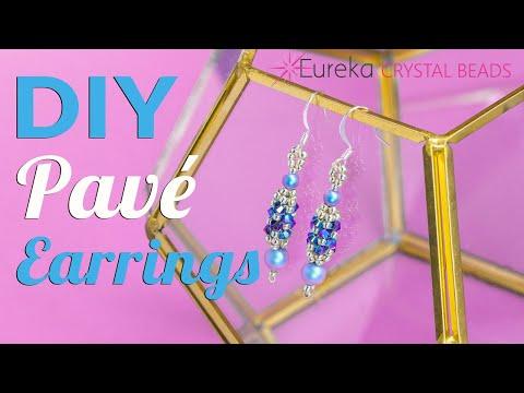 How to make Leah's Pavé Swarovski Crystal & Pearl Earrings