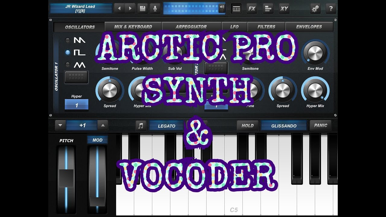 Arctic Pro Synth Vocoder Revisited Demo For The Ipad Youtube
