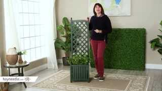 4.5-foot Square Solid Wood Lexington Planter With Trellis - Product Review Video