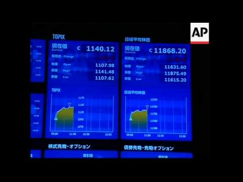 Nikkei up 3.3 percent to end morning session