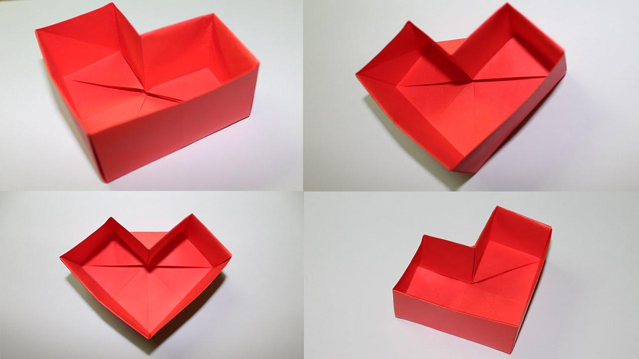 Como Hacer Una Caja De Papel En Forma De Corazon Youtube
