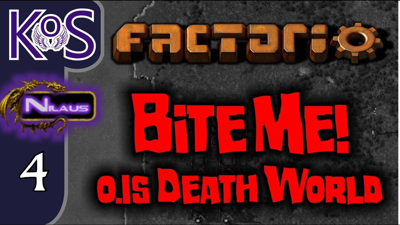 Factorio 0 15 Bite Me! Ep 4: Defending the Belt Array! - Death World COOP  MP Gameplay, Let's Play