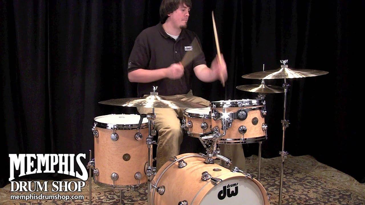 Dw Jazz Series Exotic Birdseye Maple Drum Set Hard Satin