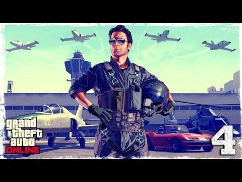 Смотреть прохождение игры [PS4] GTA ONLINE.  #4: Угоняем самолет.