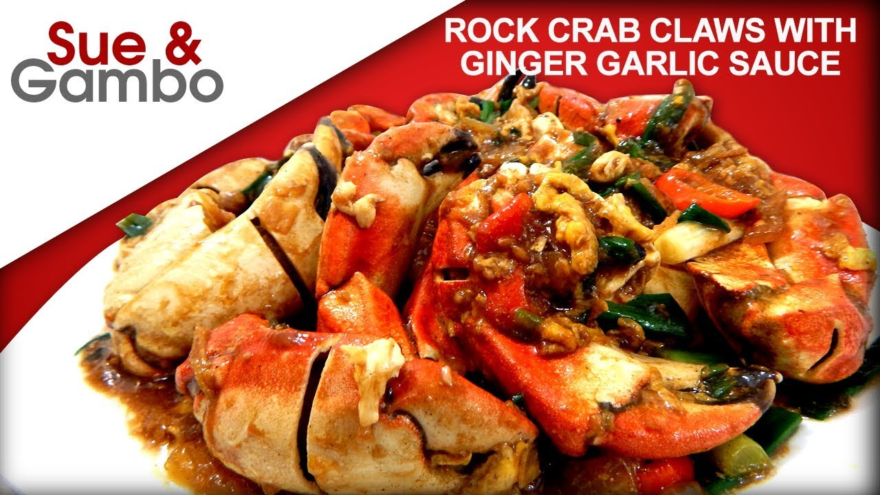 Rock Crab Claws With Ginger Garlic Sauce Recipe Youtube