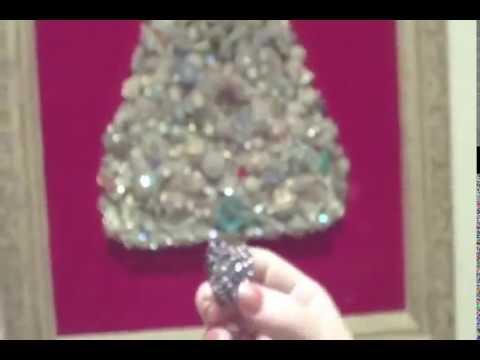 beautiful vintage jewerly christmas tree youtube - Jeweled Christmas Trees