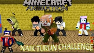 "4 Brother Ft Anto Kewer ""Naik Turun Challenge"".Minecraft Animation Indonesia #10"