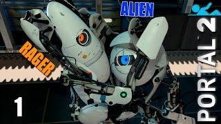 Portal 2 Прохождение (Co op) pt1 Командная игра