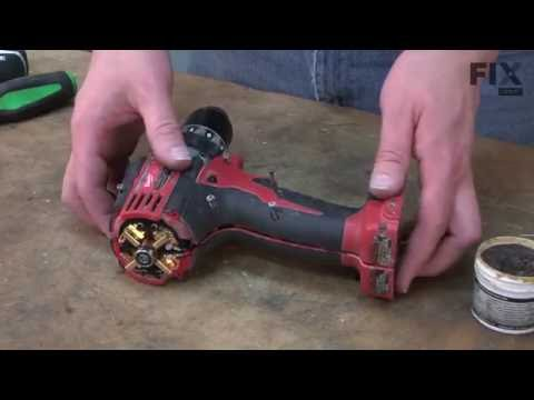 Milwaukee Electric Drill Repair - How to replace the Brush Card