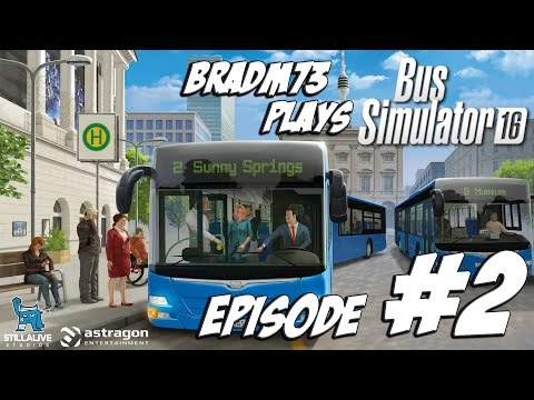 Bus Simulator 16 - Episode 2 - A new bus, route and employee!