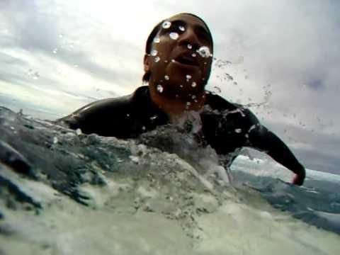 Spit of out barrel Surfing Cloudbreak, Tavarua, Fiji (POV Camera)