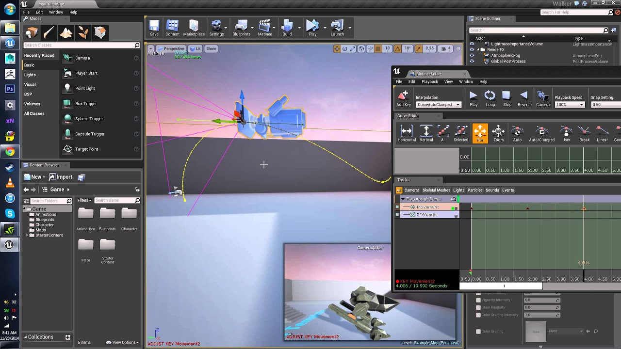Animating cameras through matinee ue4 youtube animating cameras through matinee ue4 malvernweather Gallery