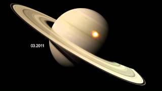 Infrared Hotspots in a Monster Saturn Storm
