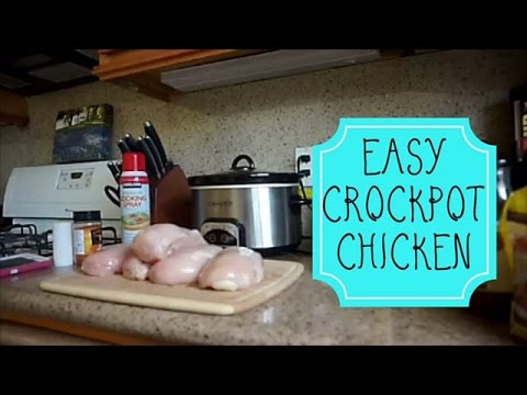 EASY Crockpot Chicken Recipe