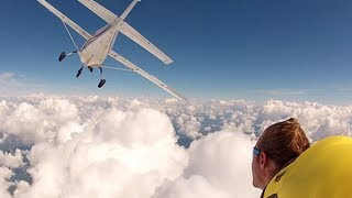 Epic Wingsuit cloud surfing (Living On A Cloud)