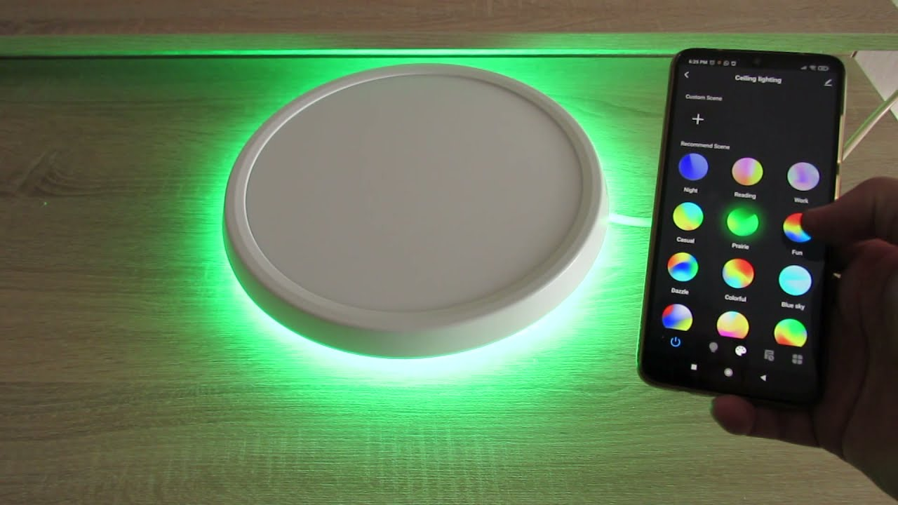 BlitzWolf BW-CLT1 LED Smart Ceiling Light & BlitzWolf Android application -  YouTube