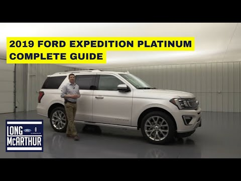 2019 FORD EXPEDITION PLATINUM COMPLETE GUIDE STANDARD AND OPTIONAL EQUIPMENT