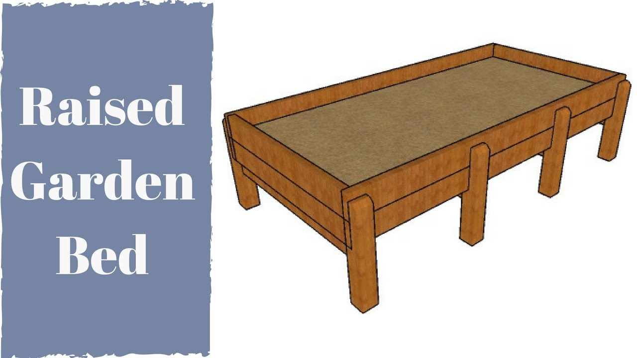 Waist hgh raised garden bed plans youtube - Waist high raised garden bed plans ...
