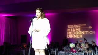 Teen Maylin Enamorado at National Gay and Lesbian Task Force Miami Recognition Dinner