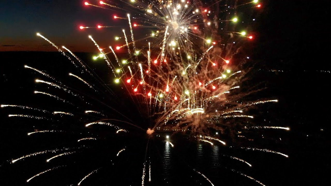 DJI Mavic Air Footage : Fireworks from a Drone in Slow Motion!