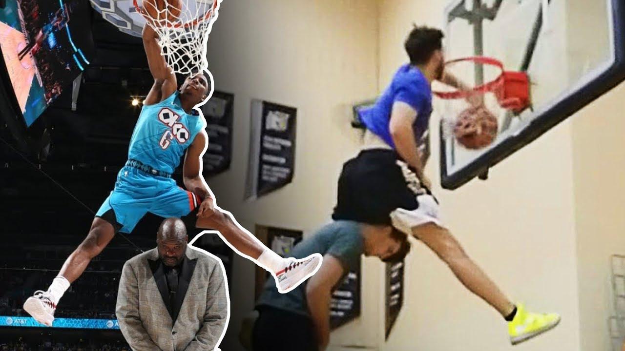 nowy autentyczny sprzedawca detaliczny dobry Jordan Kilganon makes every dunk attempted in NBA slam dunk ...