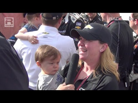 RACER: Robin Miller With Sarah Fisher