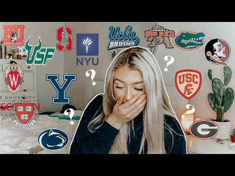 COLLEGE DECISION REACTION// COLLEGE REVEAL!!