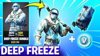 How to get DEEP FREEZE BUNDLE! - NEW FROSTBITE SKIN (Fortnite Battle Royale)