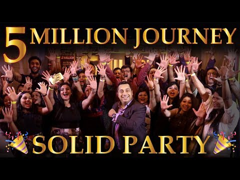 5 Million Subscribers   Solid Party   Dr Vivek Bindra