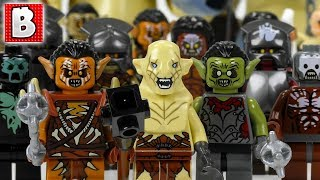 Every LEGO Orc & Goblin Lord of the Rings Minifigure EVER MADE!!! +RARE Azog! | Collection Review