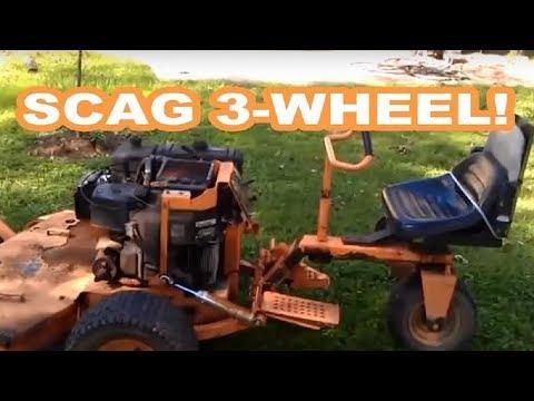 SCAG 3-WHEEL COMMERCIAL LAWN MOWER - YouTube