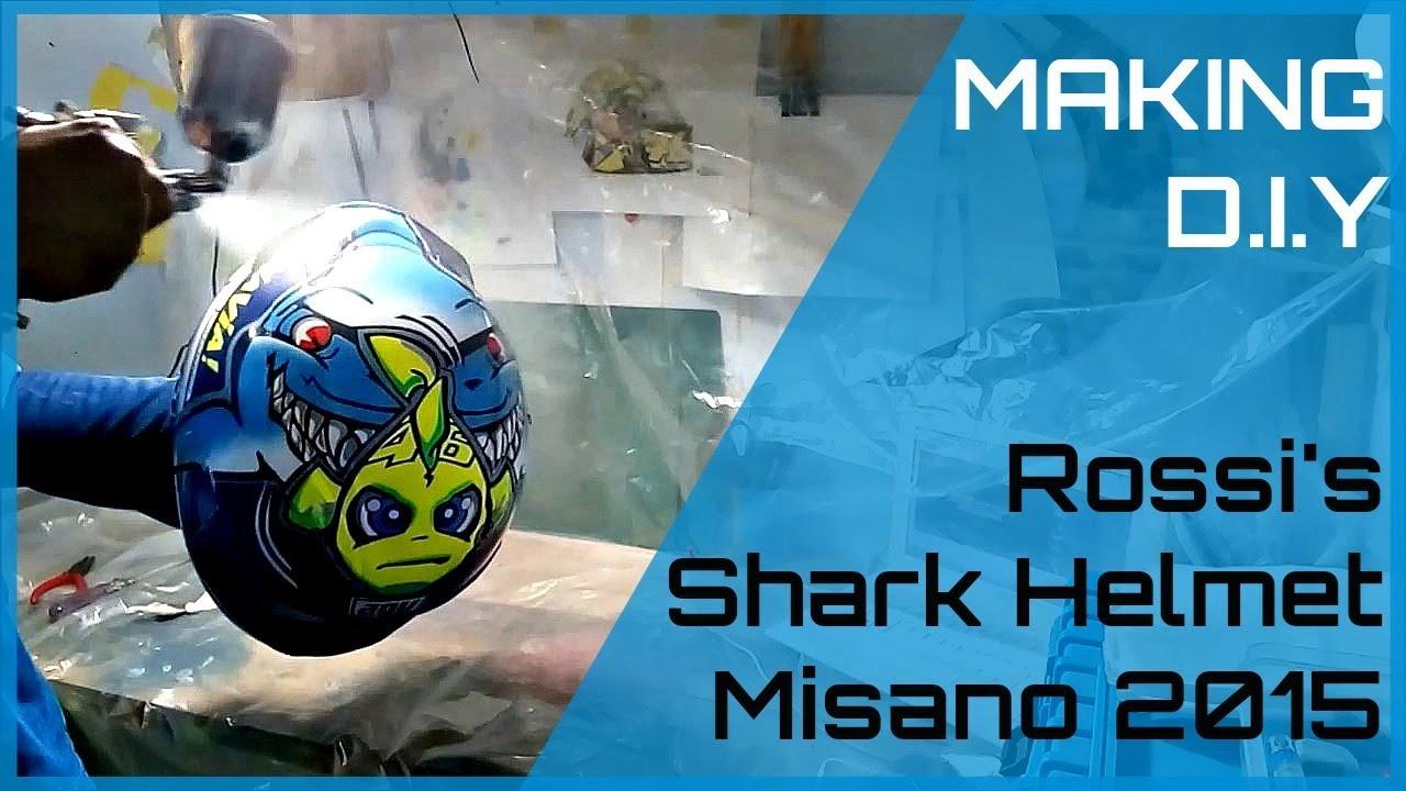 Making a valentino rossi shark helmet misano 2015