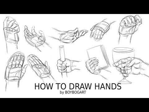 how to draw relaxed hands
