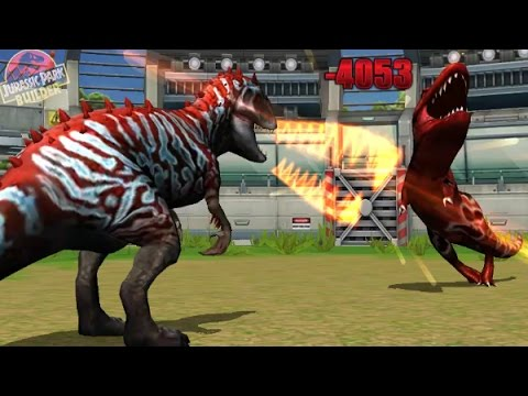 Battle Arena (Stage 1 to 50) : All DINOSAURS - Indominus Rex Vs T-Rex || Jurassic Park Builder
