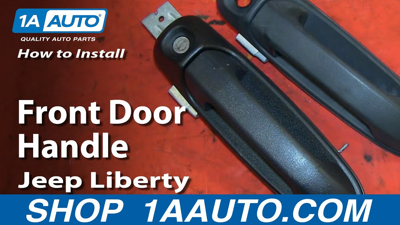 How To Replace Front Door Handle 02 07 Jeep Liberty Youtube