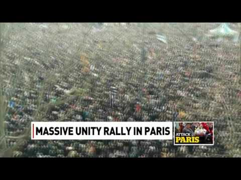 Millions rally in Paris after attack on Charlie Hebdo magazine. Jeff Semple reports.