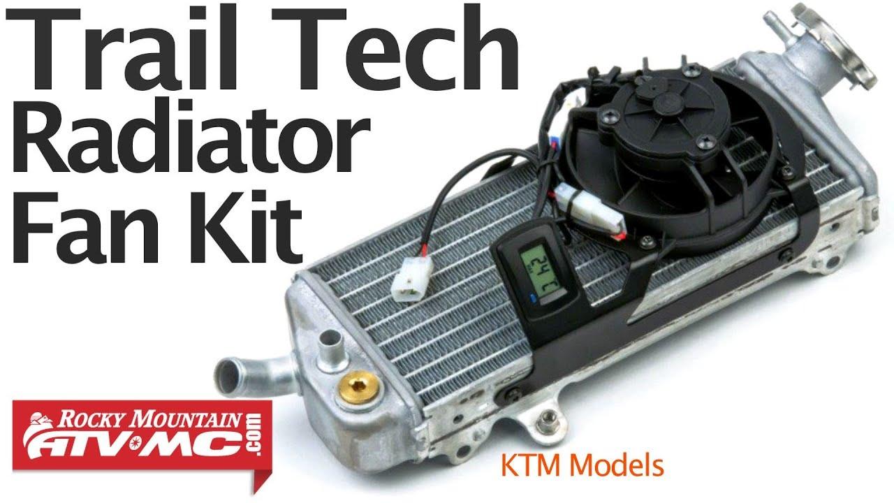 trail tech digital radiator fan kit installation ktm models [ 1280 x 720 Pixel ]