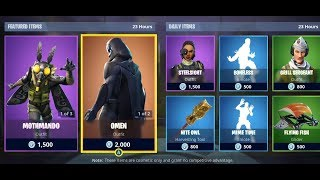 OMEN + MOTHMANDO SKINS AND MORE! Fortnite Item Shop for January 21!